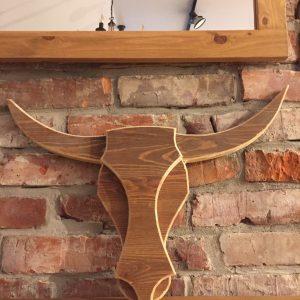 Drewniana dekoracja byk