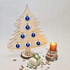 Choinka drewniana ozdoby świąteczne