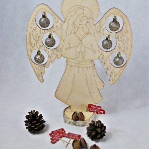anioł drewniany duży